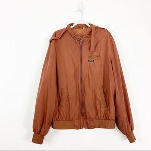 Member's Only Rust Orange Tan Soft Shell Jacket